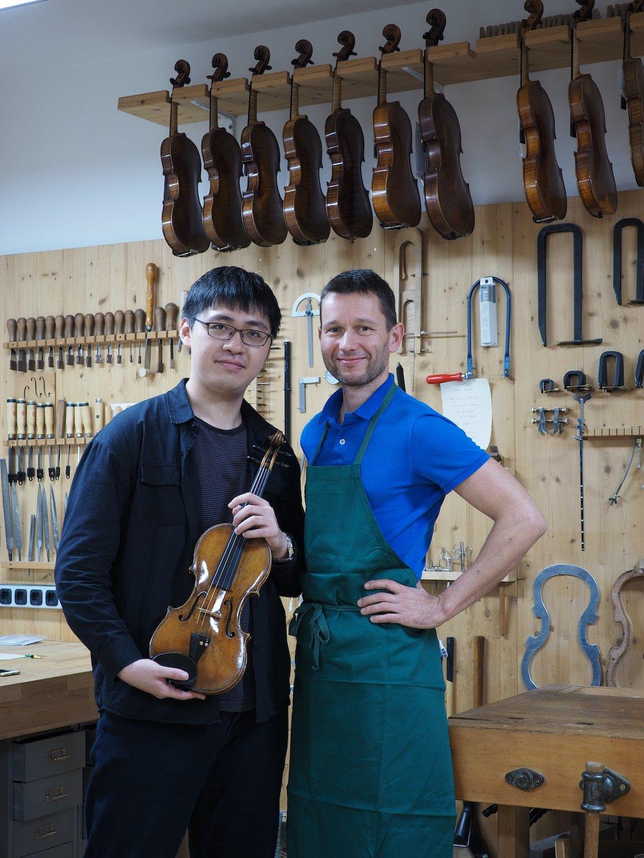 Hsu Yung-Chieh mit seiner Guarneri