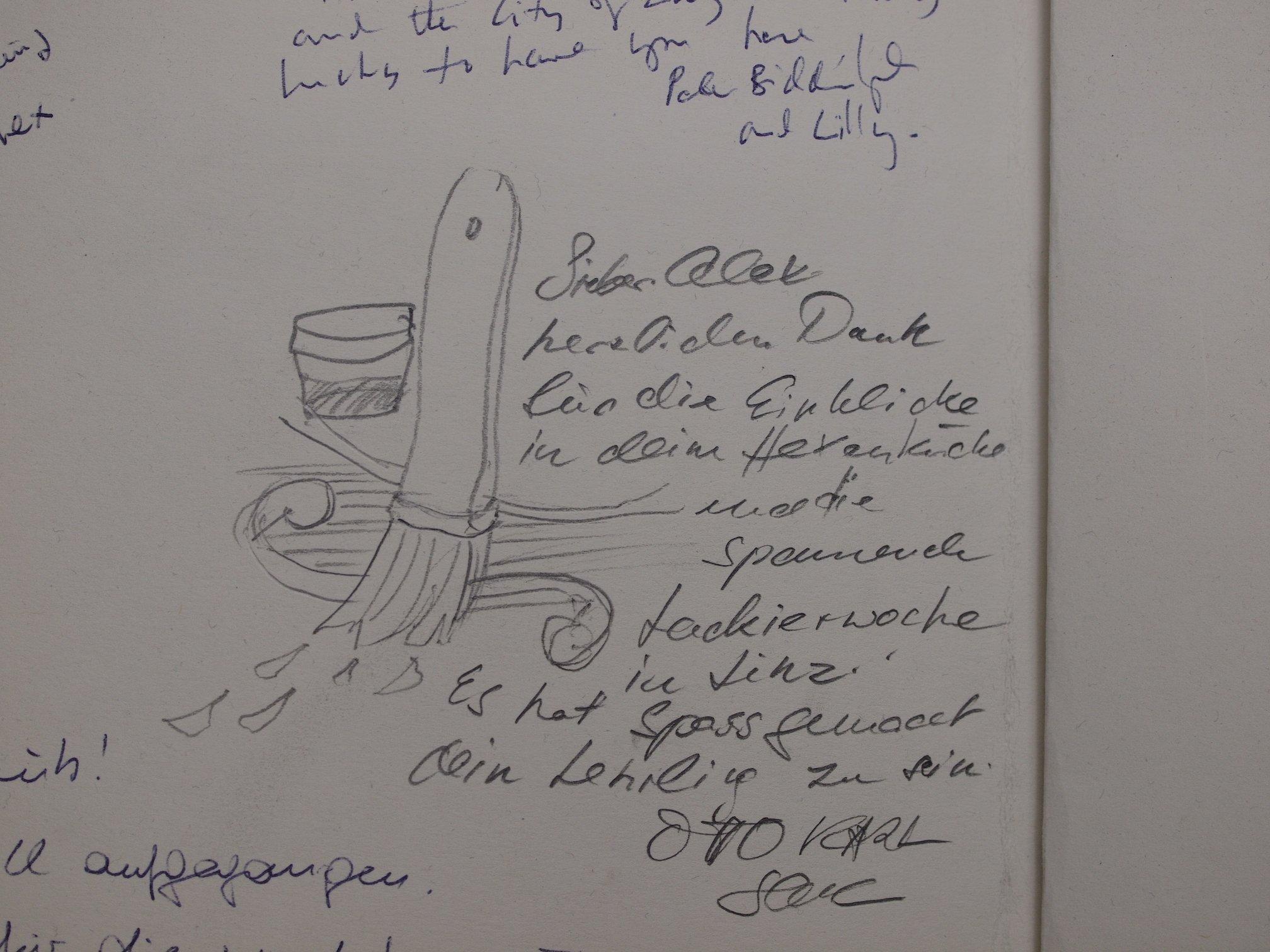 Ottos Eintrag in meinem Gästebuch