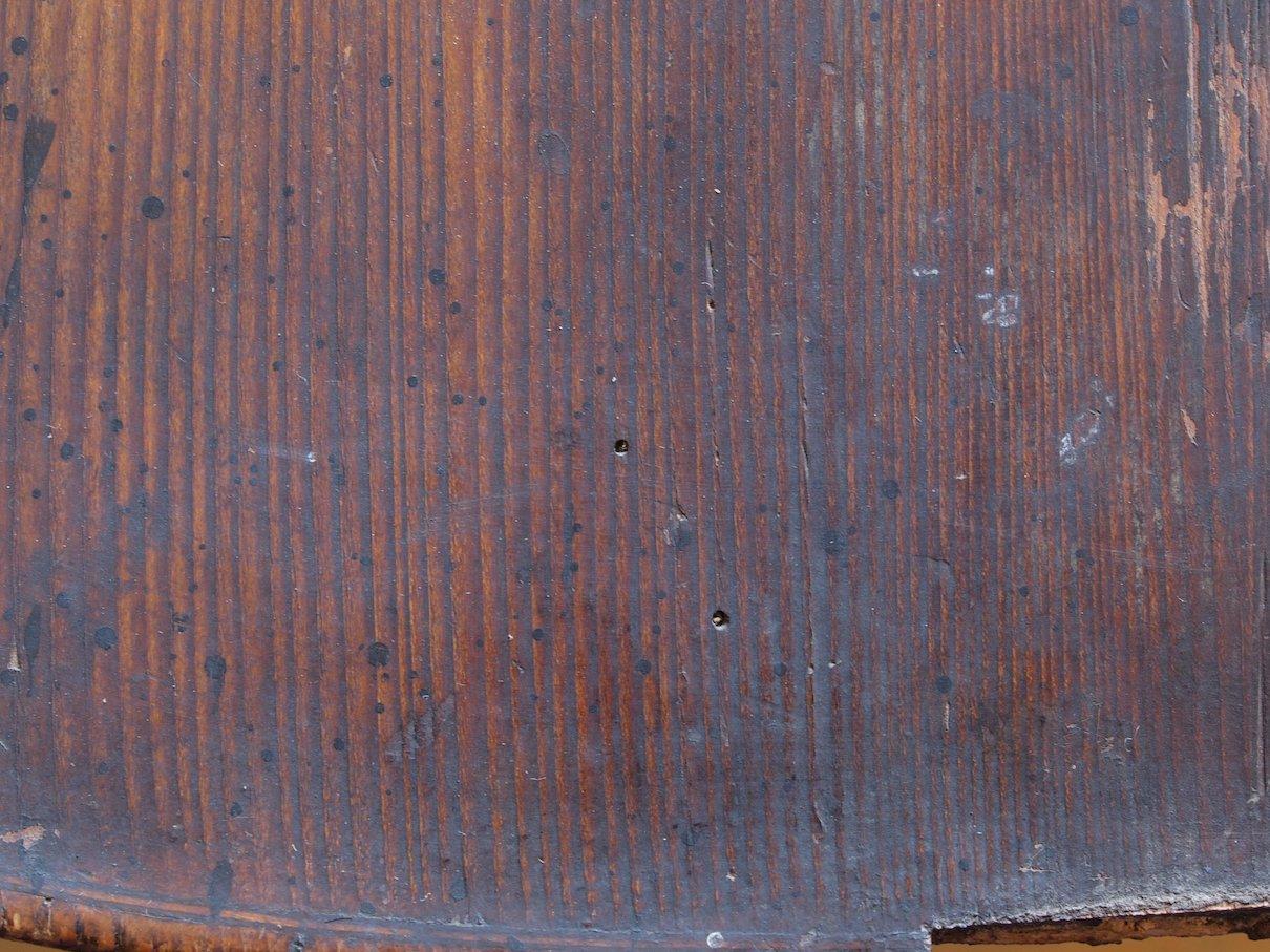 Wurmschaden Decke im Unterklotzbereich