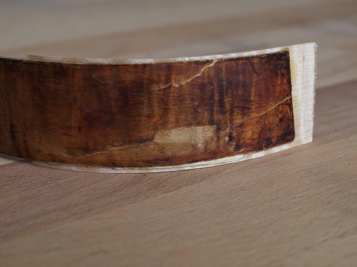 eingesetzter Originalholzspan