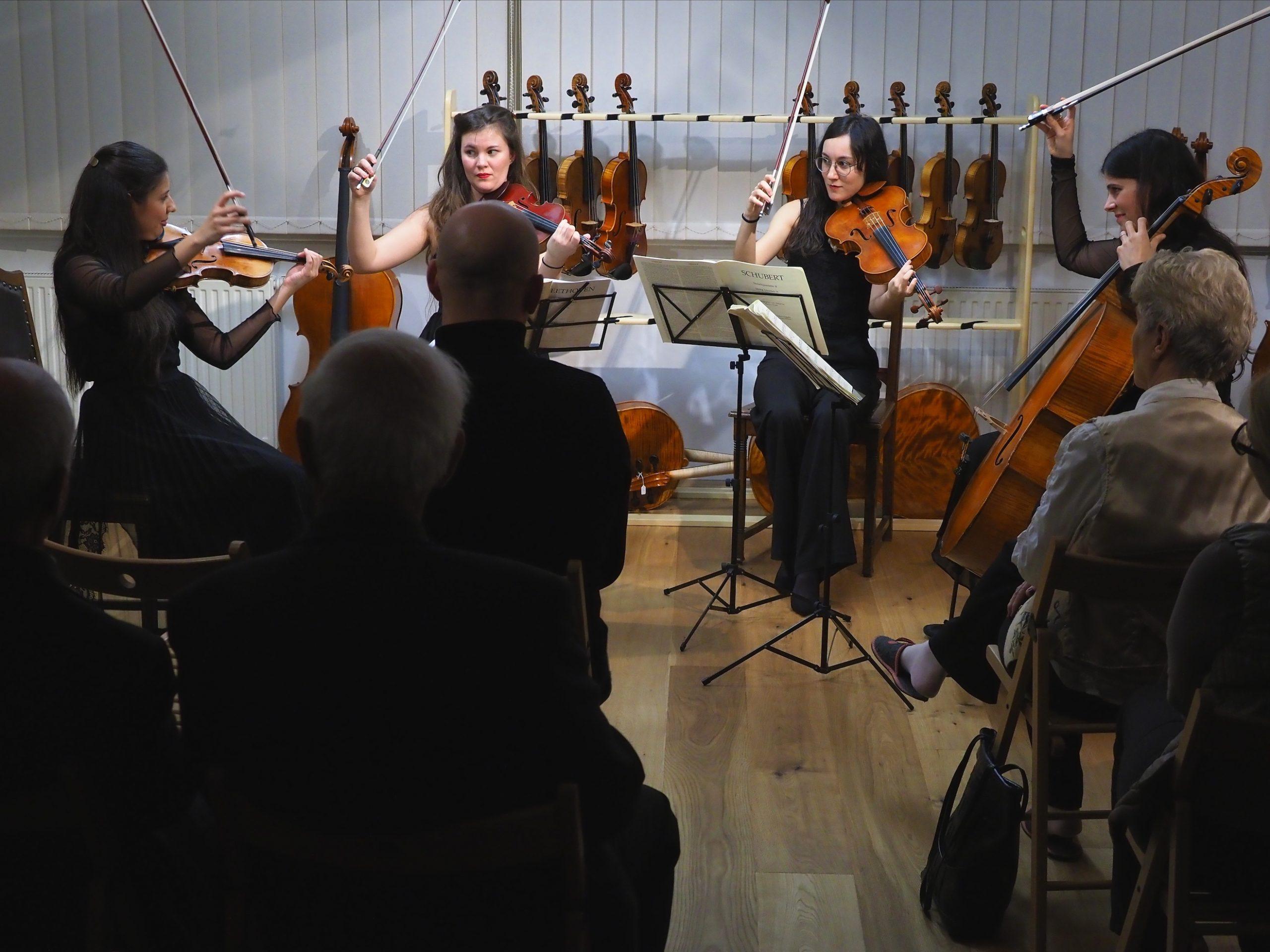 Werkstattkonzert mit dem Arantius Quartett