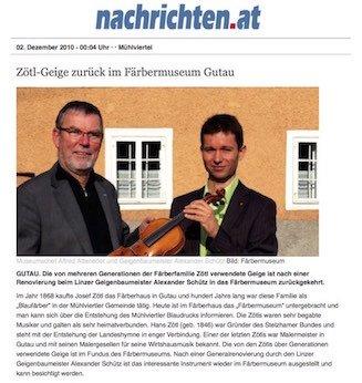Oberösterreichische Nachrichten 02.12.2010
