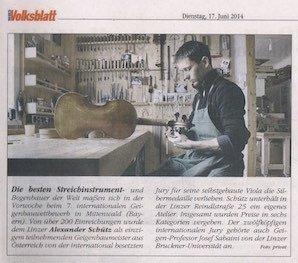 Neues Volksblatt, 17.06.2014