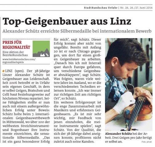 Stadtrundschau Urfahr, 26./27.6.2014