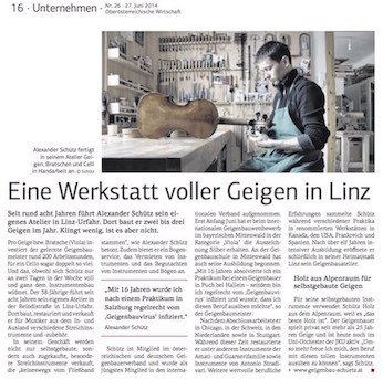 OÖ Wirtschaft, 27.06.2014
