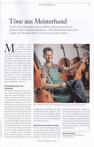 Oberösterreich Magazin, 2/2020
