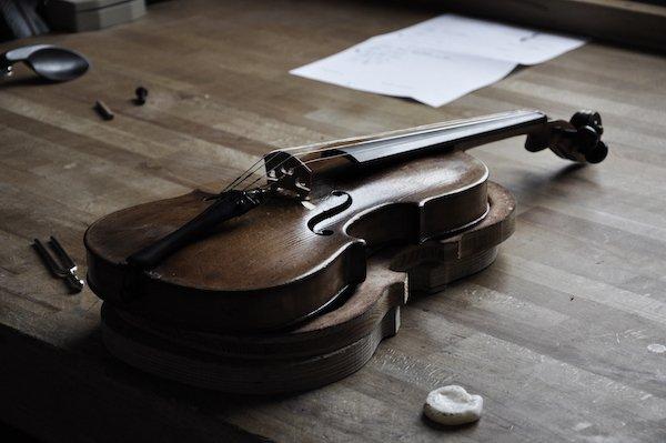 Klangeinstellung Geige