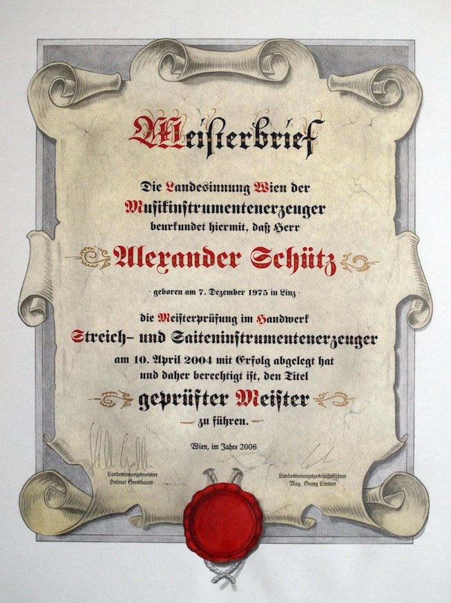 Master craftsman certificate 2006