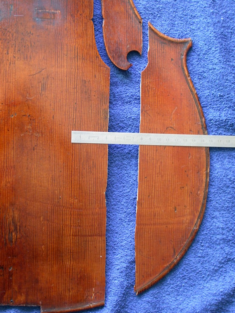 Restoration of a cello after a car accident
